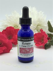 Roses & Dew Drops Silky Hydrating Serum, Travel Size, Facial Serum & Light Moisturizer, Natural Moisturizer, with Lavender,Geranium & Ylang Ylang