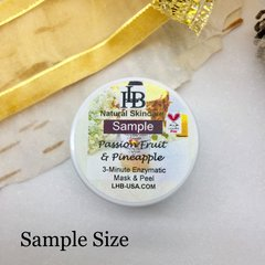 Sample Size - Passion Fruit & Pineapple Resurfacing Facial Mask & Light Peel. Natural Fruit Enzymes effectively remove dead skin cells.
