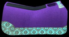 Purple Felt 32x32 Light Turquoise Aztek