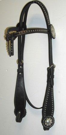 Dark Oil Leather Headstall