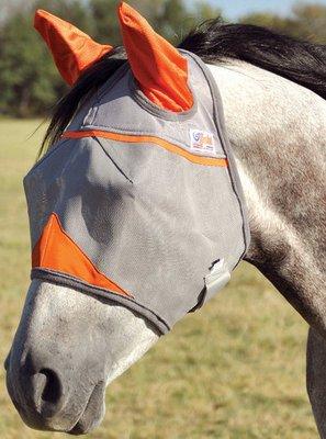 Cashel® Crusader Fly Mask w/ ears, Orange