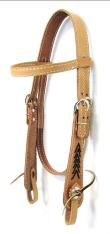 Old Timers Headstall with Lacing on Cheeks
