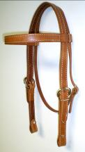 Russet One Inch Harness Doubled & Stitched