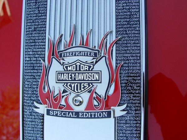 Emblem Harley Davidson Firefighter Special Edition