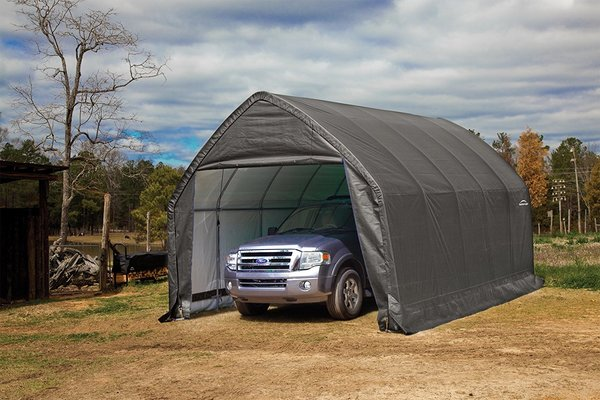 GARAGE AUTO SHELTER CANOPY STORAGE TENT SHED GREY COVER 13' X 20' X 12'