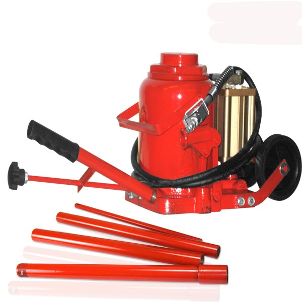 50 Ton Air/ Manual All Purpose Bottle Jack with Wheels