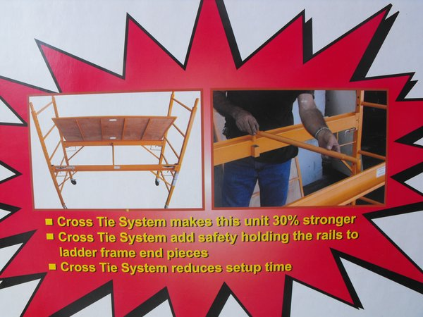 Safety Cross Bar for Professional Scaffolds