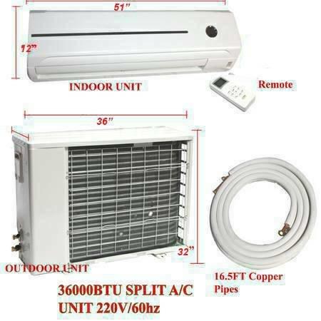3 Ton 36000 BTU Mini split AC Unit