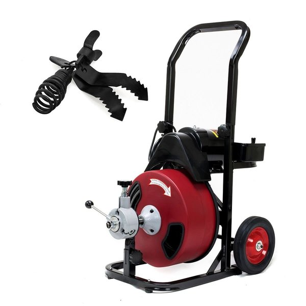 "ELECTRIC POWER DRAIN CLEANER SNAKE AUGER 50 FT x 1/2"" CABLE"
