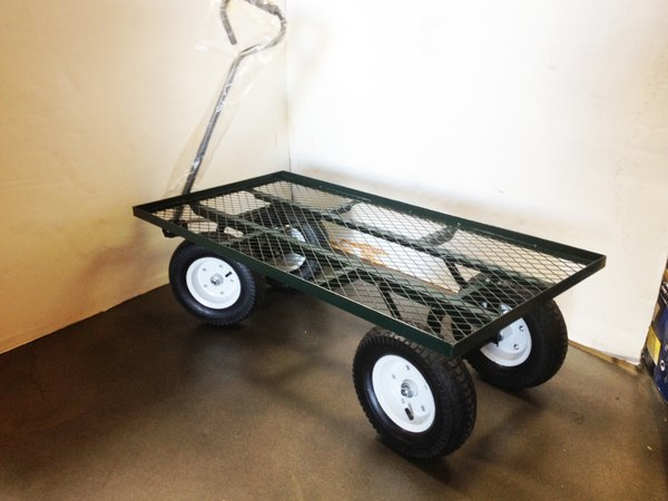 "Steel Mesh Flat Bed Cart 38"" x 20"""