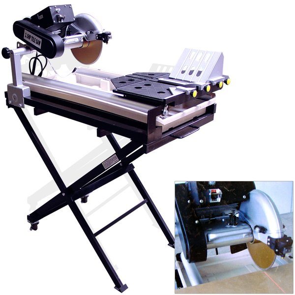 """27"""" Cut Tile Saw,With Stand, blade and Laser Guide,10"""" blade"""