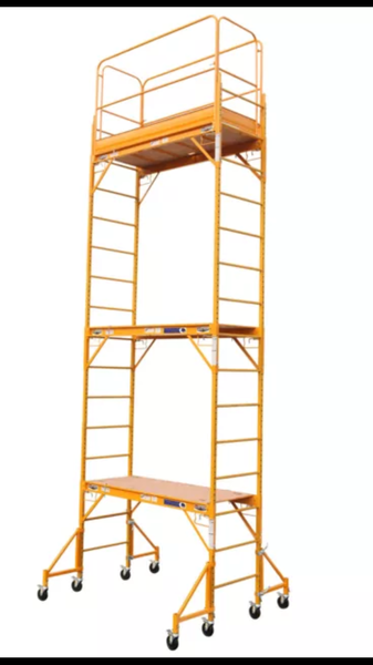 Cross Bar System 18 Ft Scaffolds Tower Package With Safety Rail and Outriggers OSHA-ANSI