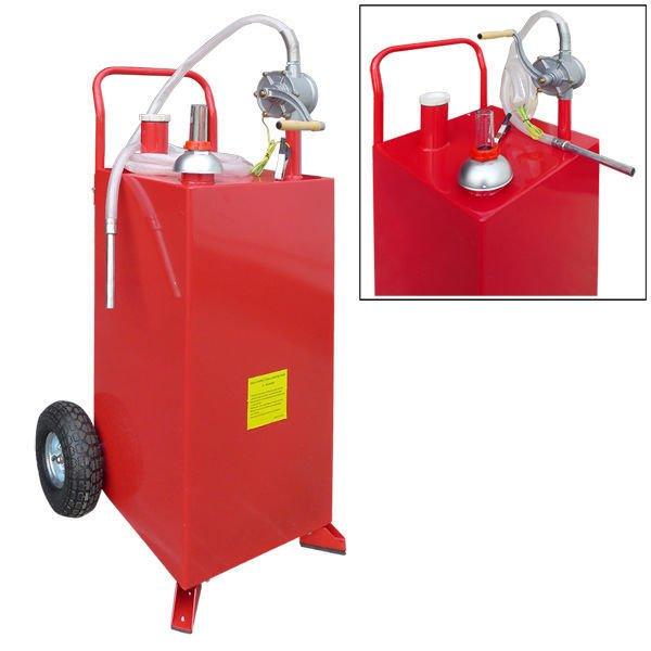 30 Gallon Gas Oil Diesel Fluid Caddy Transfer Tank Bidirectional