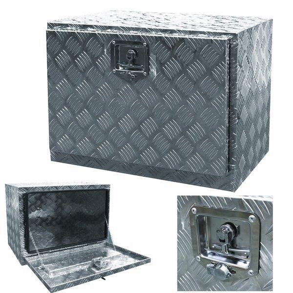 "24""X17""X18"" Aluminum Truck Under Body Truck Tool Box Tote Trailer Flat Bed"