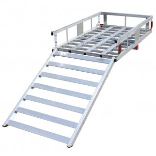 CARGO CARRIER 500 LBS WITH LADDER ALUMINUM