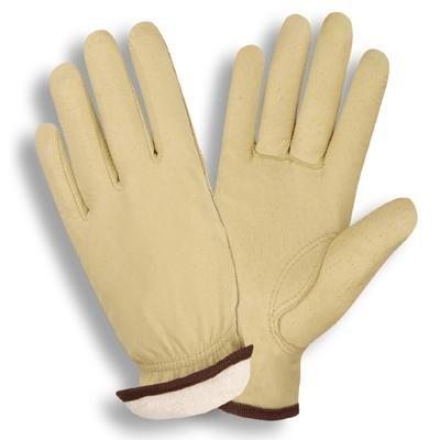 Grain Pigskin/White Fleece Lined Leather Driving Gloves (Dozen Pack)