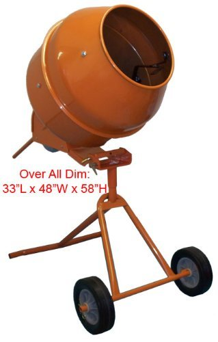 Electric Cement Mixer 8 Cu Ft Drum Size Tall Type