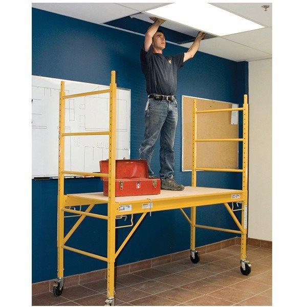 4 Aluminum Rolling Scaffold : Multi purpose rolling scaffolds lb capacity
