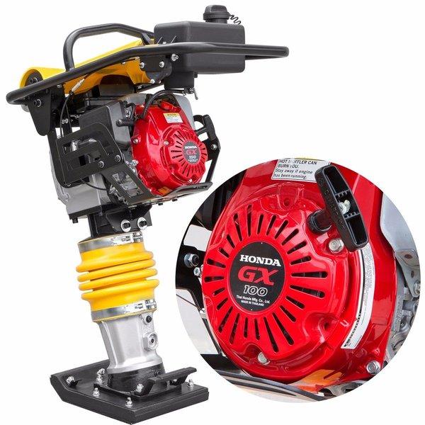 3HP Gas Impact Vibratory Rammer Jumping Jack Plate Compactor Honda 3,350 lbs/ft