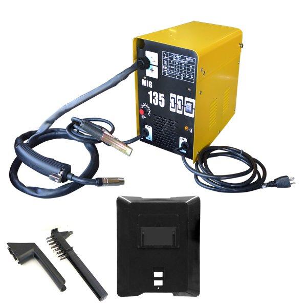 130 amps Flux/Mig W/ auto Feed Mig Welder Gas / No Gas Metalworking