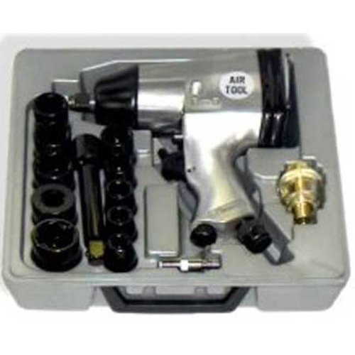 """1/2"""": Air Impact Wrench with Sockets"""