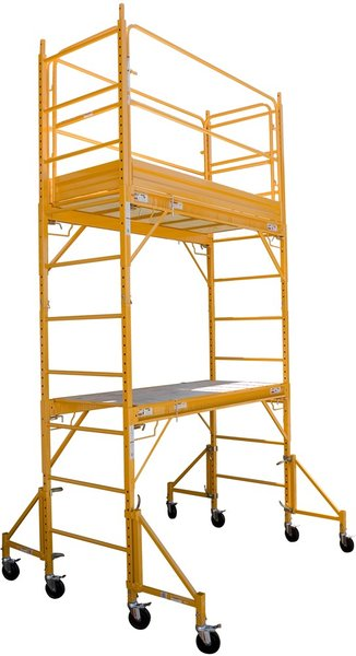 Cross Bar System 12 Ft Scaffolds Tower Package With Safety Rail and Outriggers OSHA-ANSI SCAF-12-CROSS