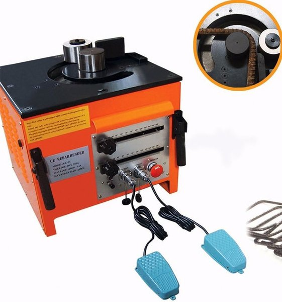 ELECTRIC REBAR BENDER WITH 2 FOOT CONTROLS