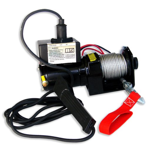 12V ELECTRIC WINCH 2,000 LBS CAPACITY