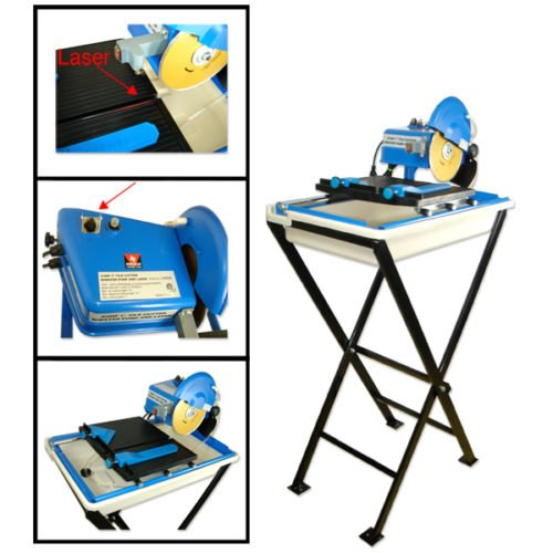 """Wet Tile Saw 16"""" Cut with Stand and laser Guide System"""