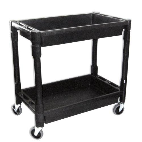 Utility Shop Cart 2 Shelves Heavy duty PVC