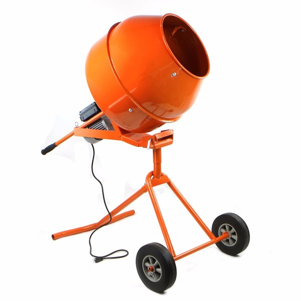 Industrial Grade Portable Cement Mixer 5 Cu Ft with Steel Drum