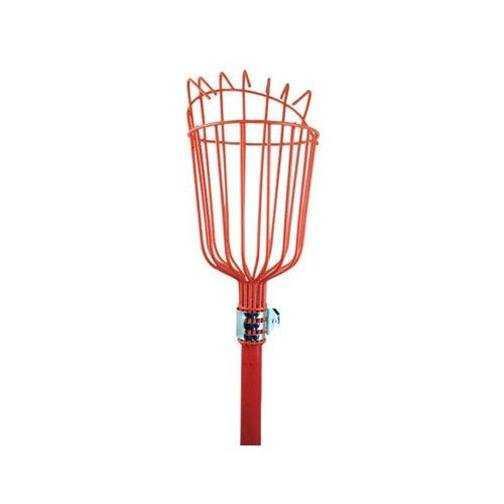 """FRUIT PICKER WITH TELESCOPIC EXTENSION STEEL HANDLE 48"""" TO 96"""""""