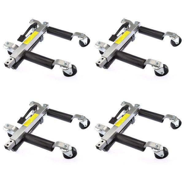 Car Wheel dolly 1500 lb Hydraulic Jack Portable Tire Lift Car Move Positioning x 4 PC