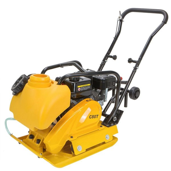 6.5 Heavy Duty Gas Plate Compactor, Walk Behind Tamper Rammer With Water Tank