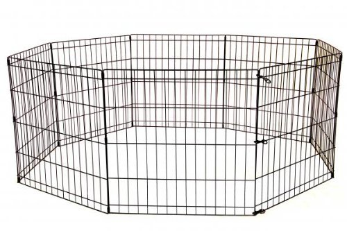 "EXERCISE PET PLAY PEN W/OUT DOOR 24"" TALL"