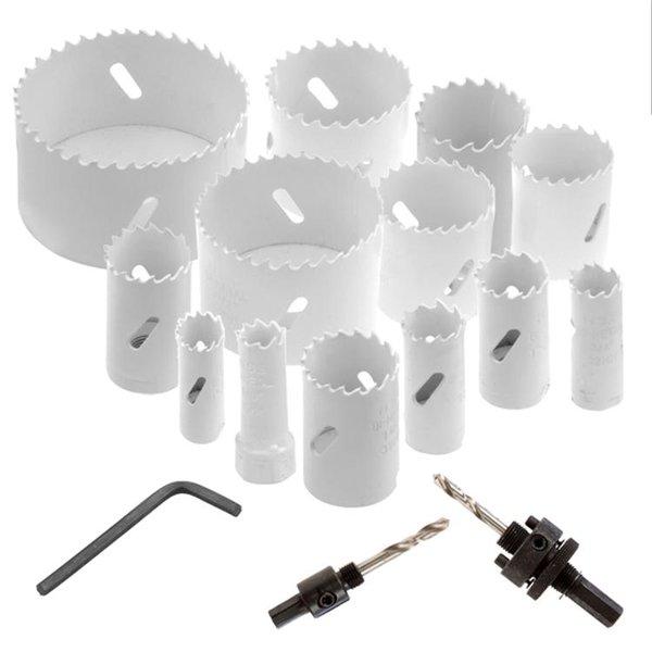 18pcs Neiko Bi-Metal Hole Saw Metal Wood Drywall Plumbers w/ Extensions Kit