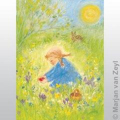 1 Postcard M. v. Zeyl - Red Easteregg