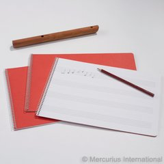 Spiral Bd Music book, large staffs 1 book
