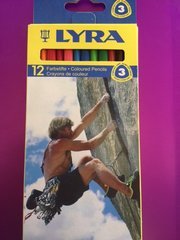 Lyra Triangular Comfort Grip Color Pencils 12 ct