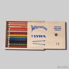 Lyra Color Giants - lacquered - 12 colours in a wooden box