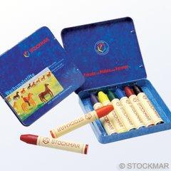 Stockmar Wax Crayons - 8 colours standard assortment in tin