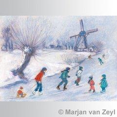 Ice Skating Postcard
