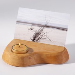 Photo Holder / Postcard Holder with Beeswax Tealight Candle