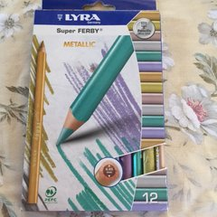 Lyra Super Ferby Metallic Colored Pencils 12 ct in box