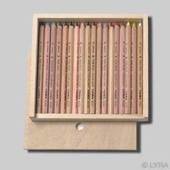 Lyra Color Giants - unlacquered - 18 colours in a wooden box