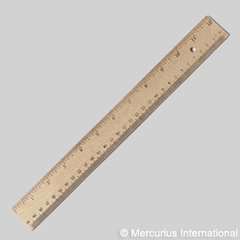 Wooden Ruler 30cm / 12 inch cm/inch scale