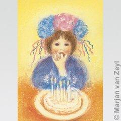 Birthday  Cake Postcard 1 pc