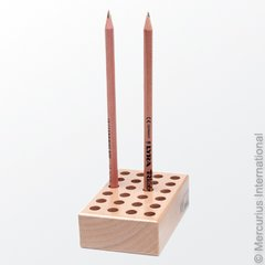 Wooden holder to fit 24 regular pencils