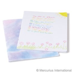 White Cover Main lesson book - 24x32 cm(9.45x12.6 inch) - portrait format - blank - stapled - with onion skin