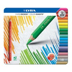 Lyra Color Giants - lacquered - 18 colours in a tin box
